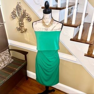 Vince Camuto sexy fitted strapless cocktail dress